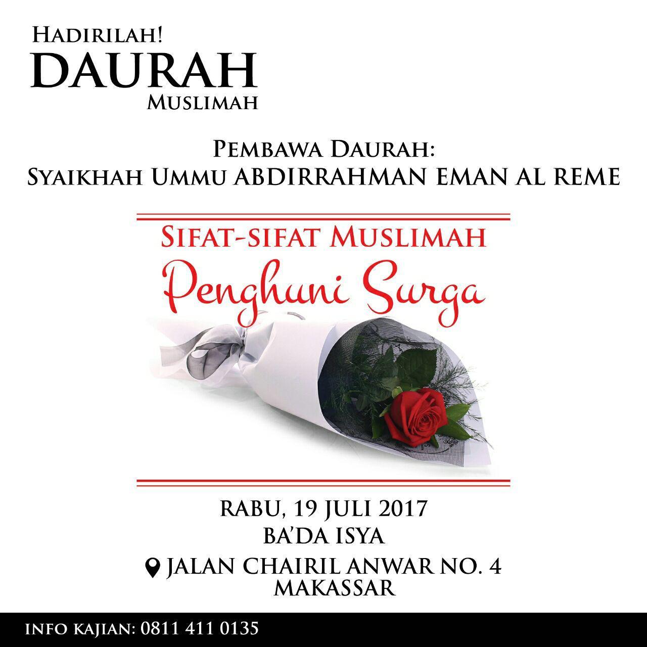 Sifat sifat muslimah penghuni surga